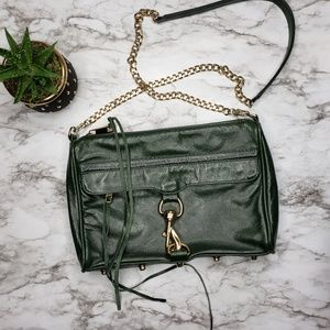 Rebecca Minkoff Forest Green M.A.C Bag Gold